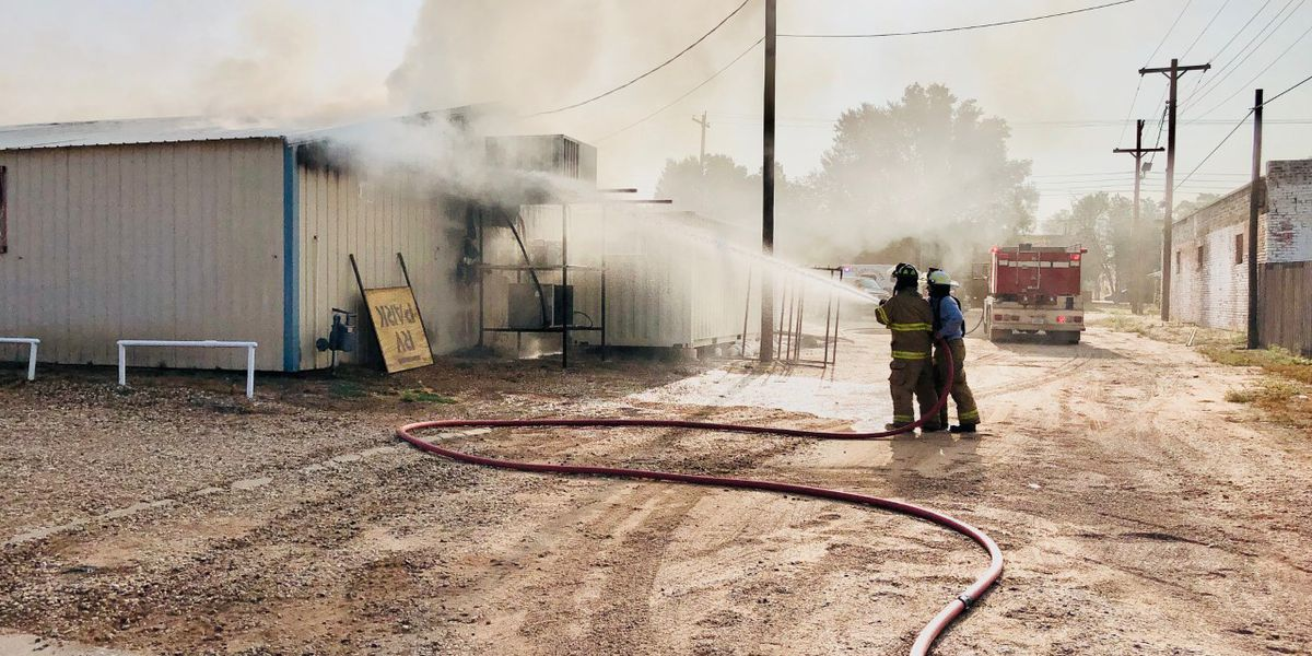 Spur, Dickens and McAdoo VFDs respond to fire at Duck Creek Game Processing