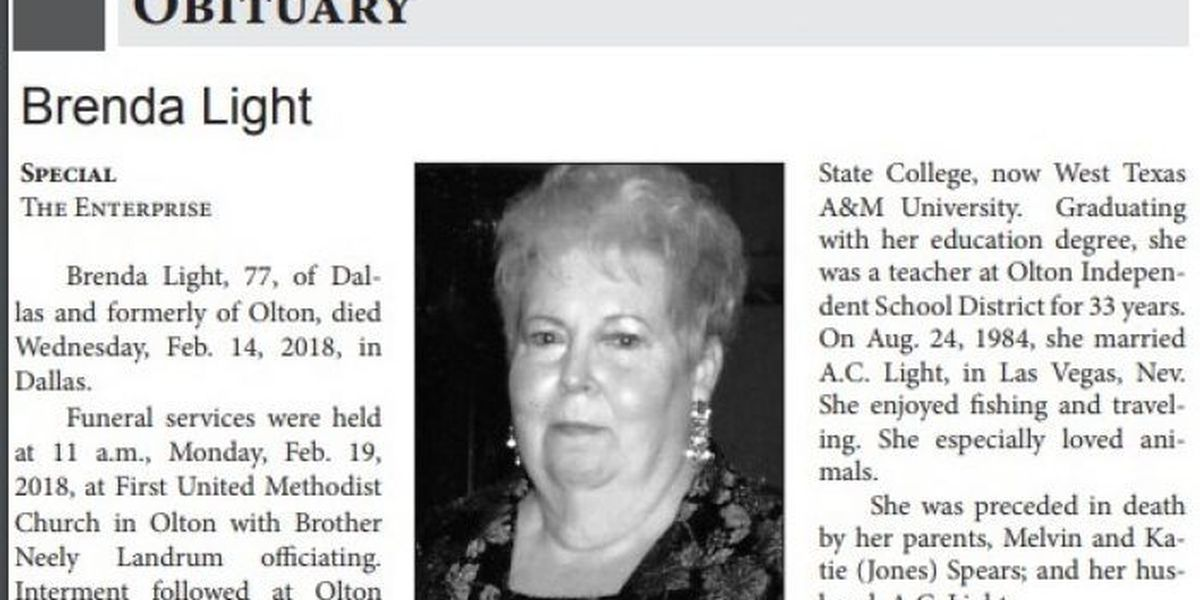 Dallas couple claims discrimination after Olton obituary edit
