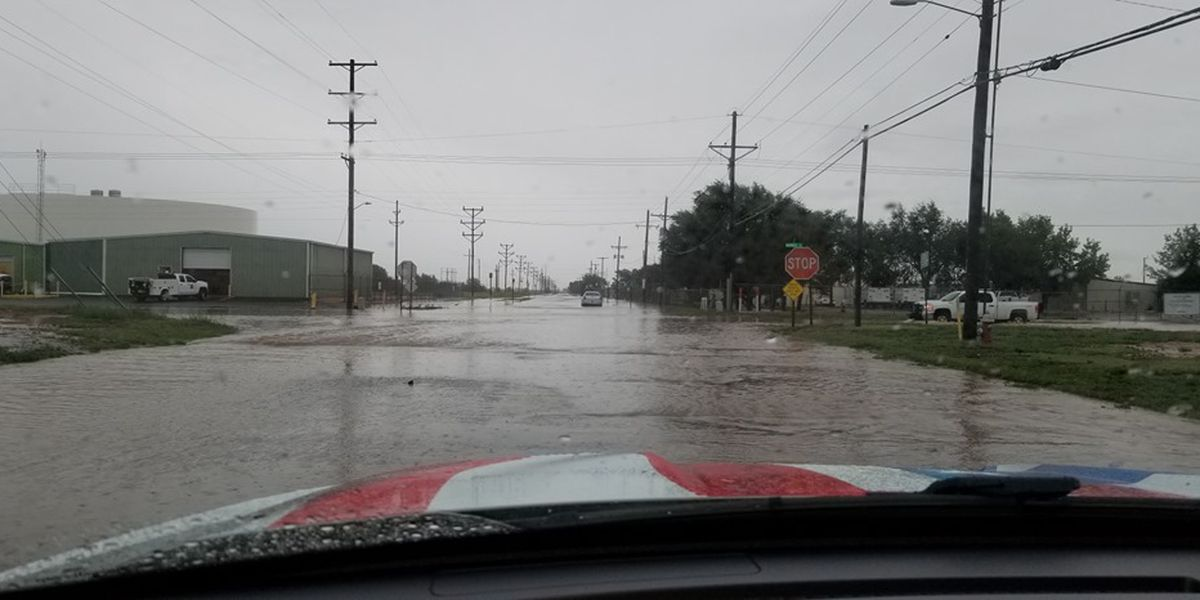 Heavy rainfall forces road closures in Clovis
