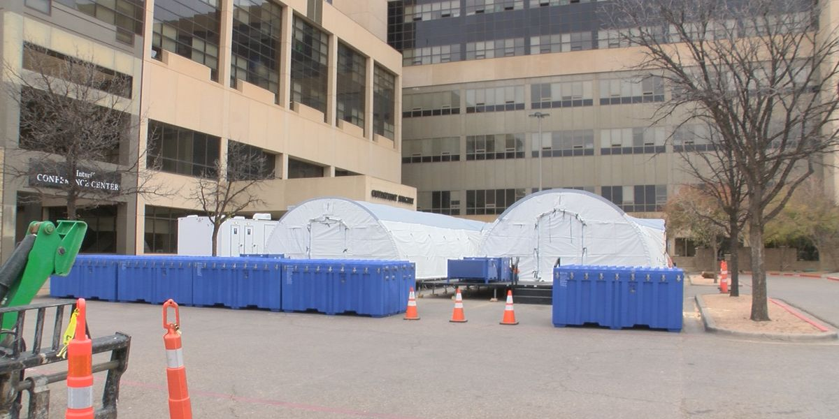 Look inside new medical tents at University Medical Center