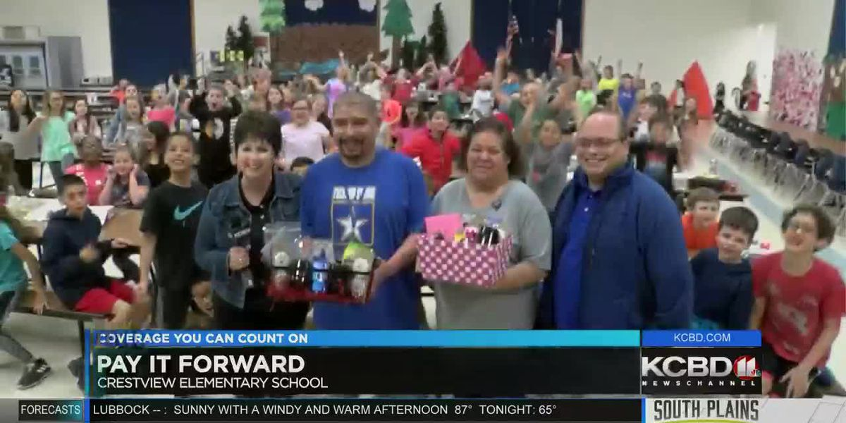 Pay It Forward: Donating to 2 Crestview Elementary School custodians
