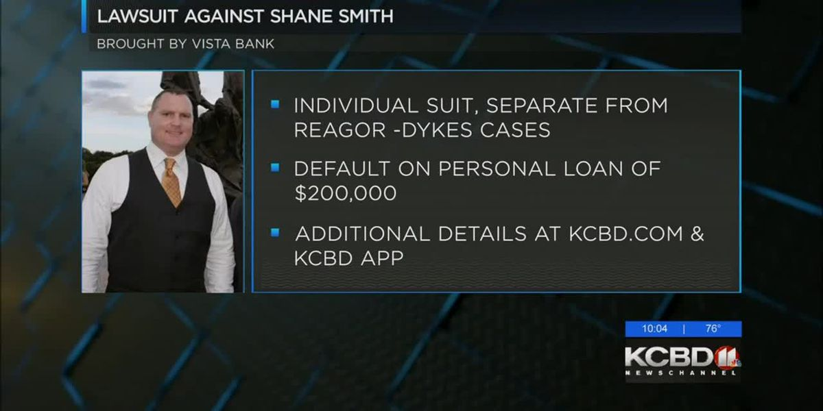 Shane Smith sued by Vista Bank