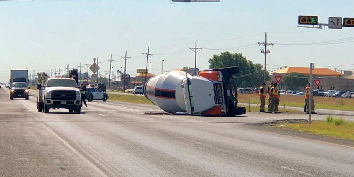 Cement truck rolled over after collision at MLK & Slaton Hwy