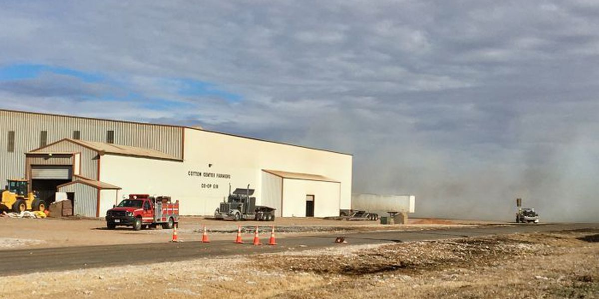 Crews battle fire near Cotton Center Co-Op Gin