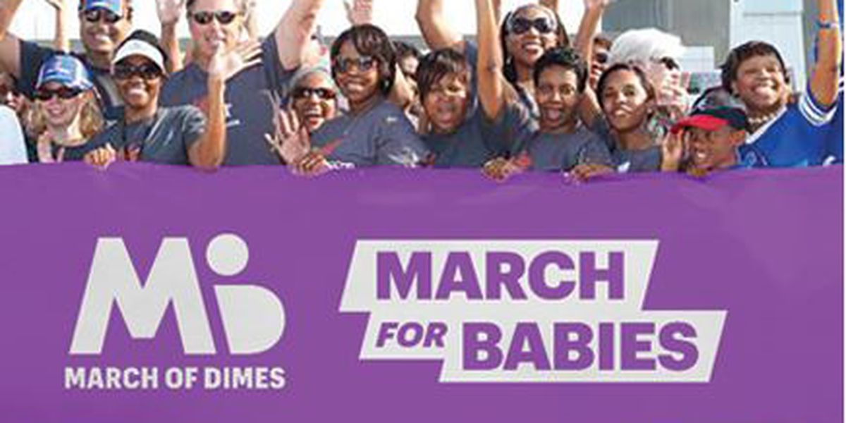 Luke leads the way in the March for Babies