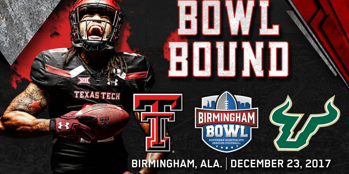 Red Raiders to play University of South Florida in Birmingham Bowl, Dec. 23
