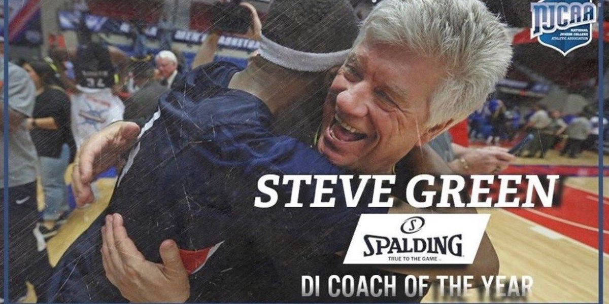 Steve Green named 2018 NJCAA Div. 1 Men's Basketball Spalding Head Coach of the Year