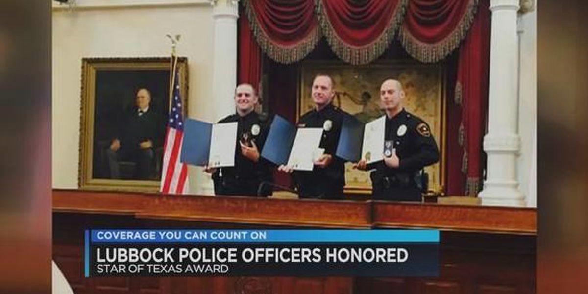 Lubbock law enforcement officers receive Star of Texas award
