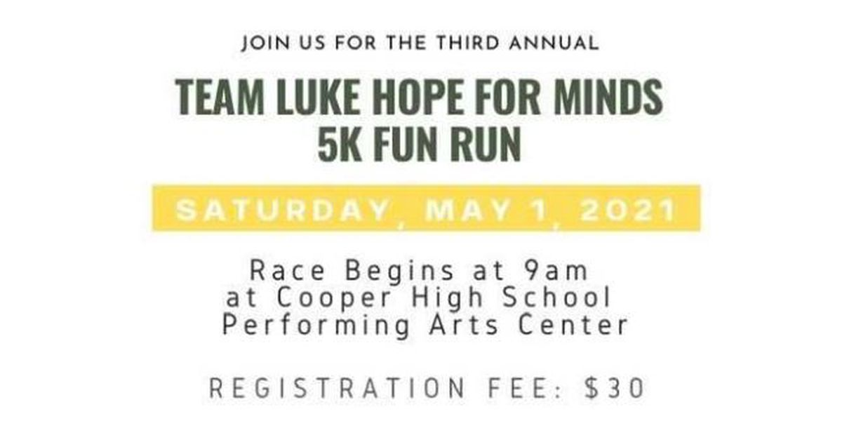 Team Luke to host 5K Fun Run Saturday, May 1