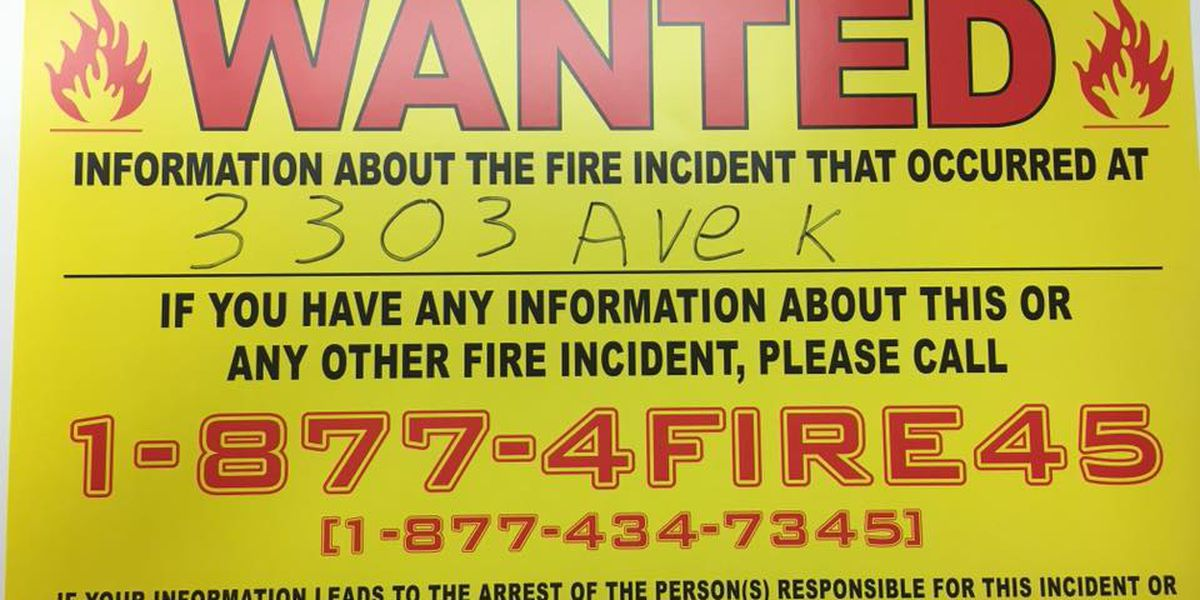 Reward offered, suspect wanted after multiple suspicious fires in Snyder