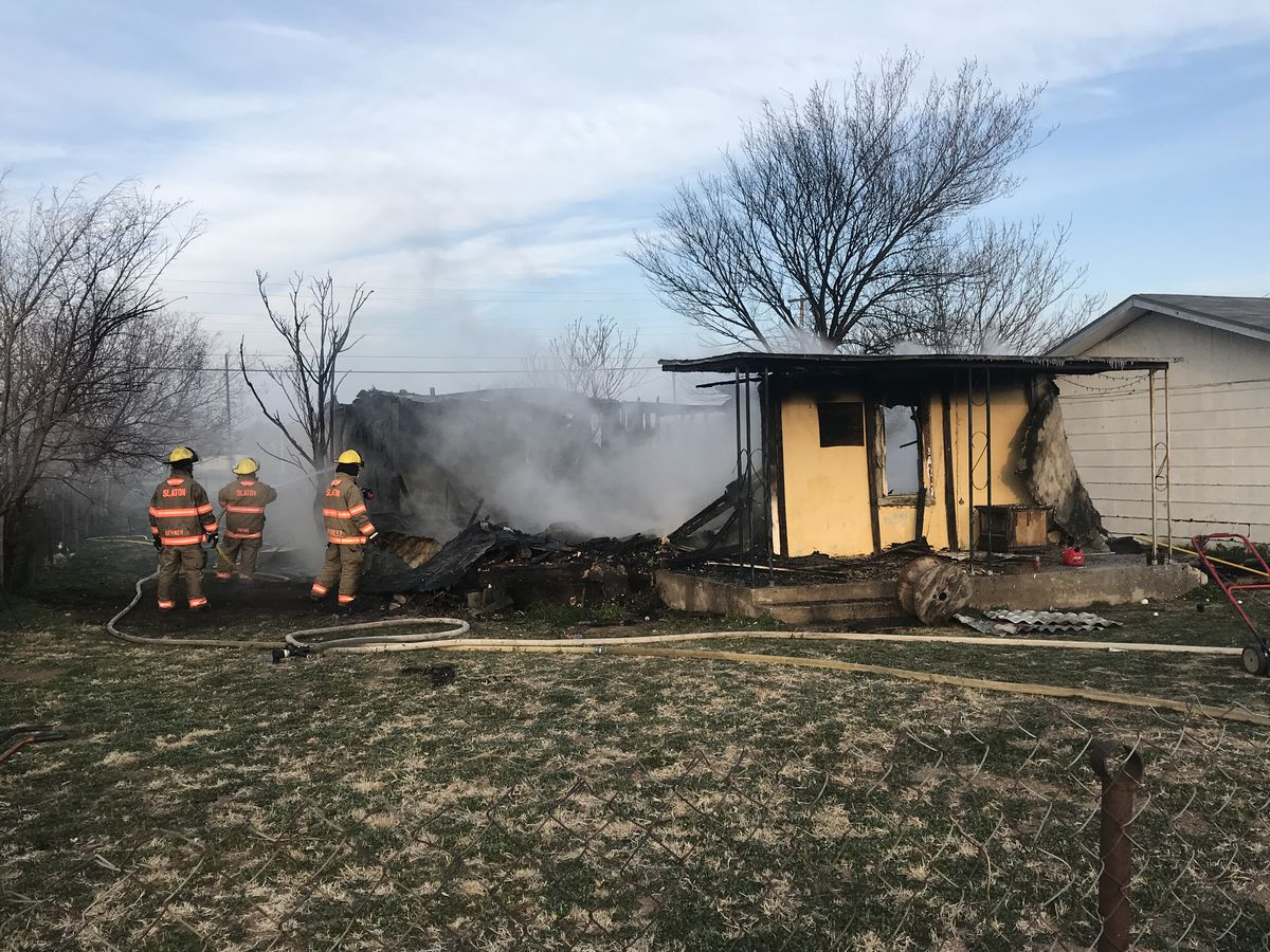 no injuries reported after slaton house fire