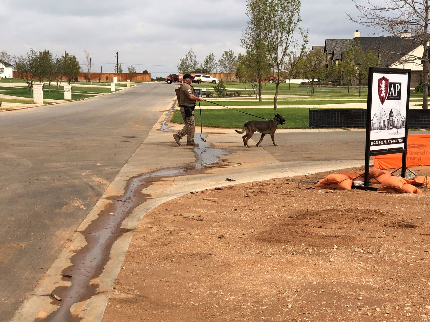 After the two suspects bailed from the stolen vehicle, a DPS K9 officer was helping in the search.