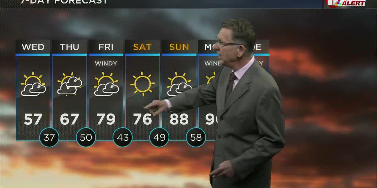 Warmer after late-season freeze