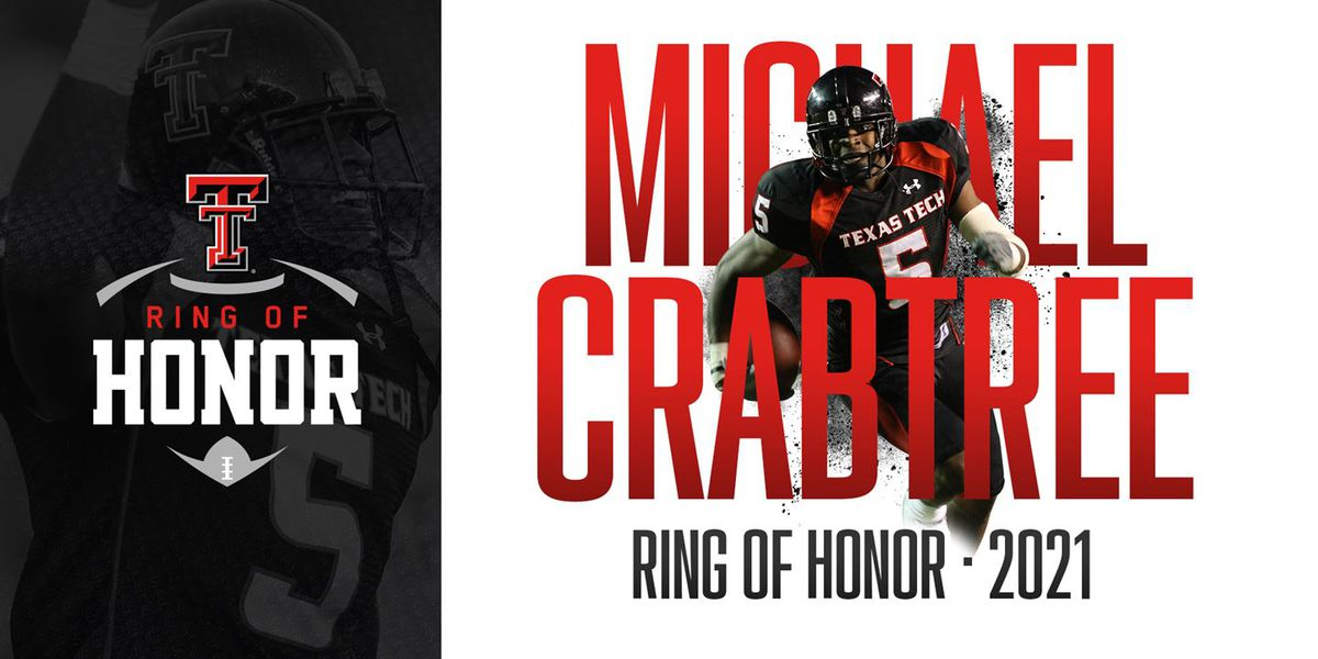 Crabtree to be Inducted into Texas Tech Ring of Honor