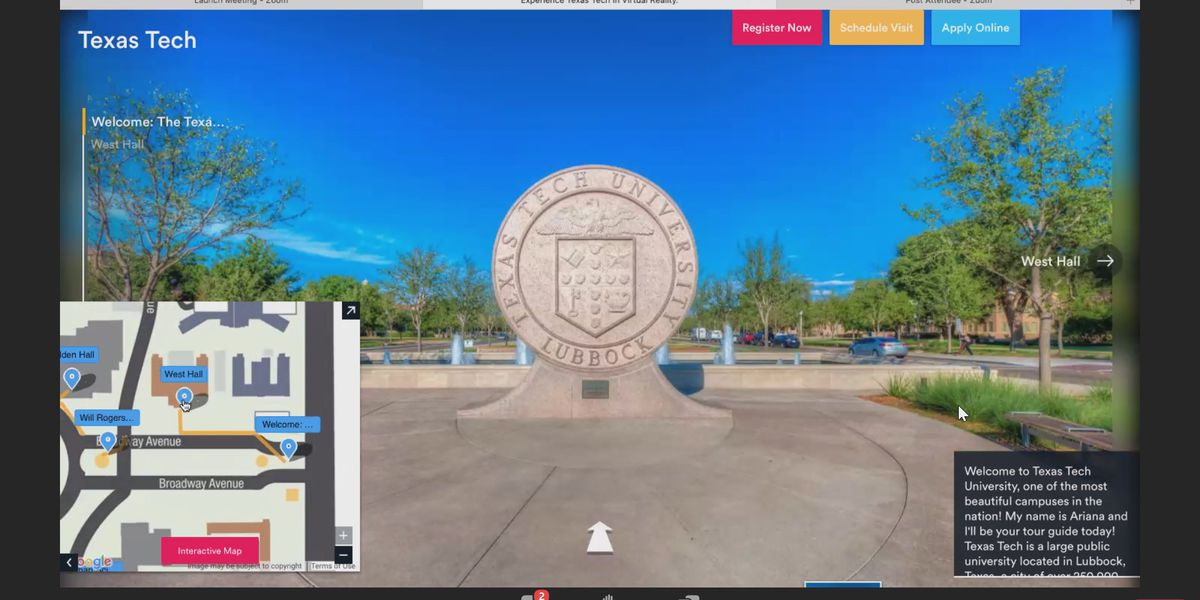 Virtual campus tours bringing new experience to Texas Tech