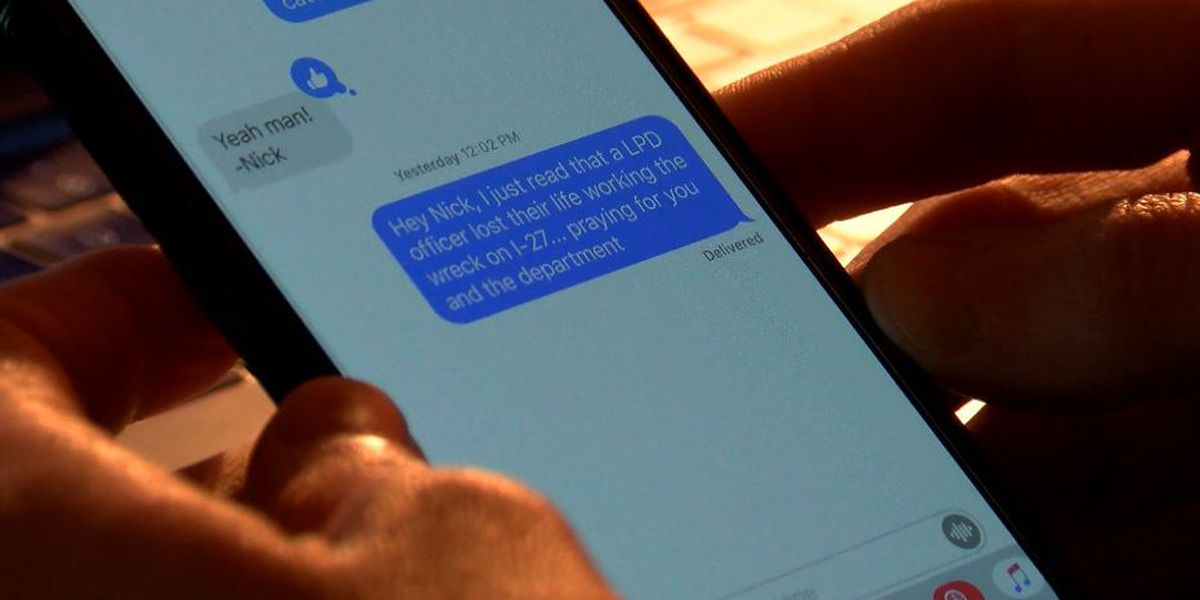 Unanswered text from fallen Lubbock officer prompts strong message of safety & support of first responders