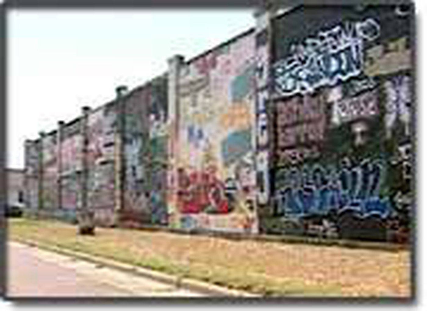 It looks like graffiti but whats known as the graffiti wall is not an eyesore in lamesa its a tradition
