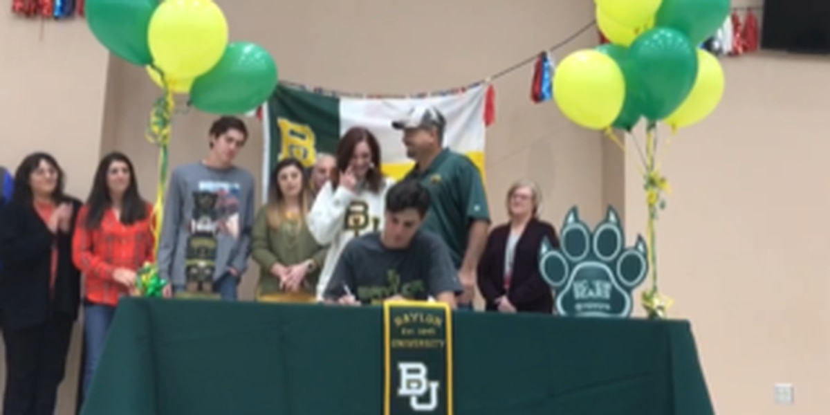 Valley's Jake Merrell signs to run track for Baylor