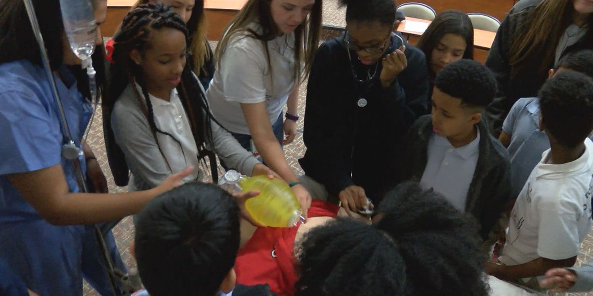 Ervin Elementary fifth graders become doctors for the day
