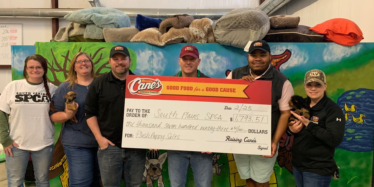 Raising Cane's makes donation to South Plains SPCA