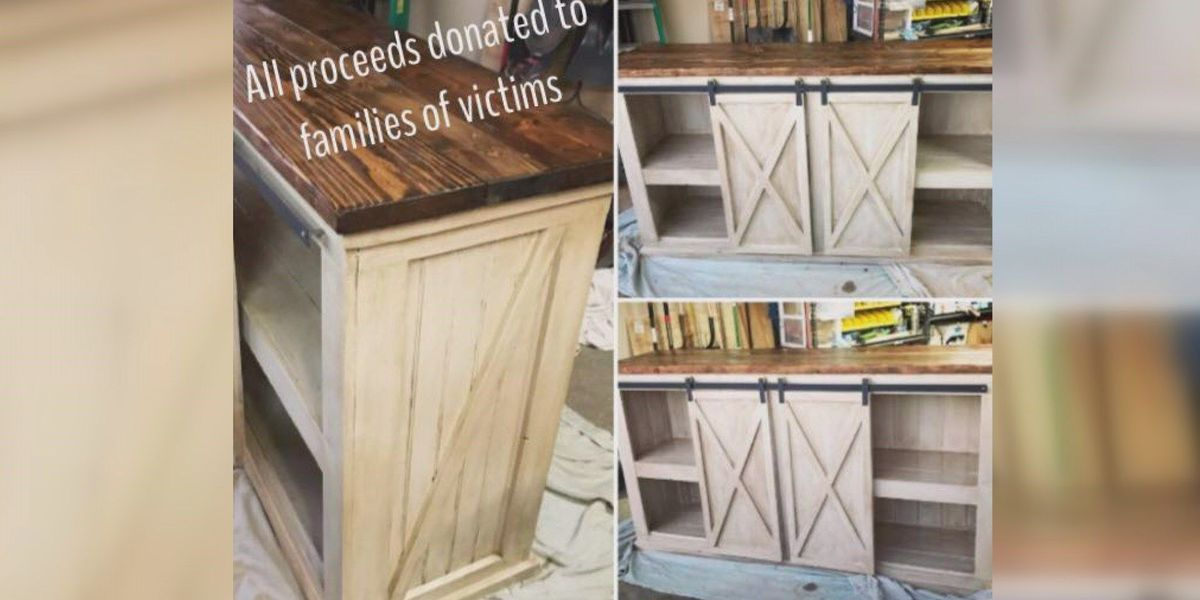 Lubbock couple auctioning off handmade cabinets to help fire victims