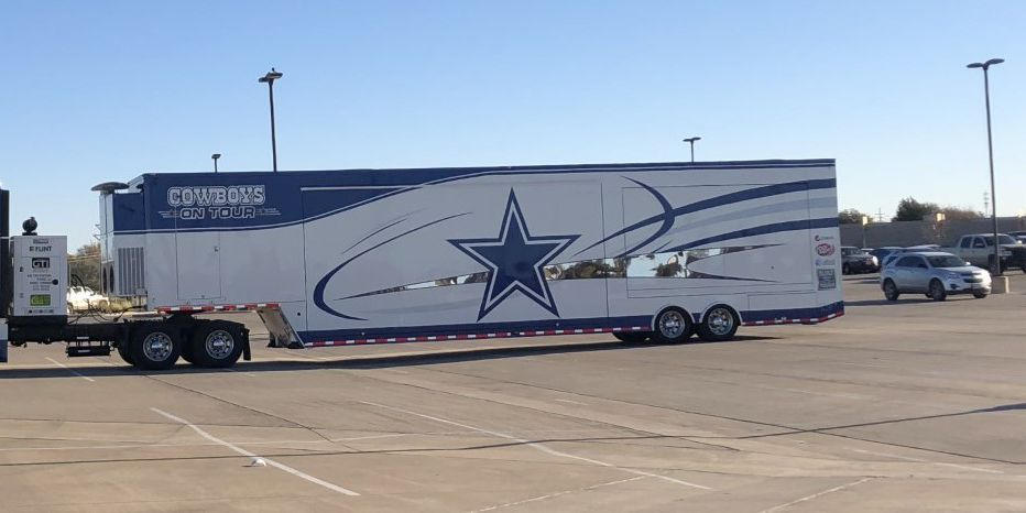 Dallas Cowboys on Tour, Hall of Fame Truck stopping in Lubbock