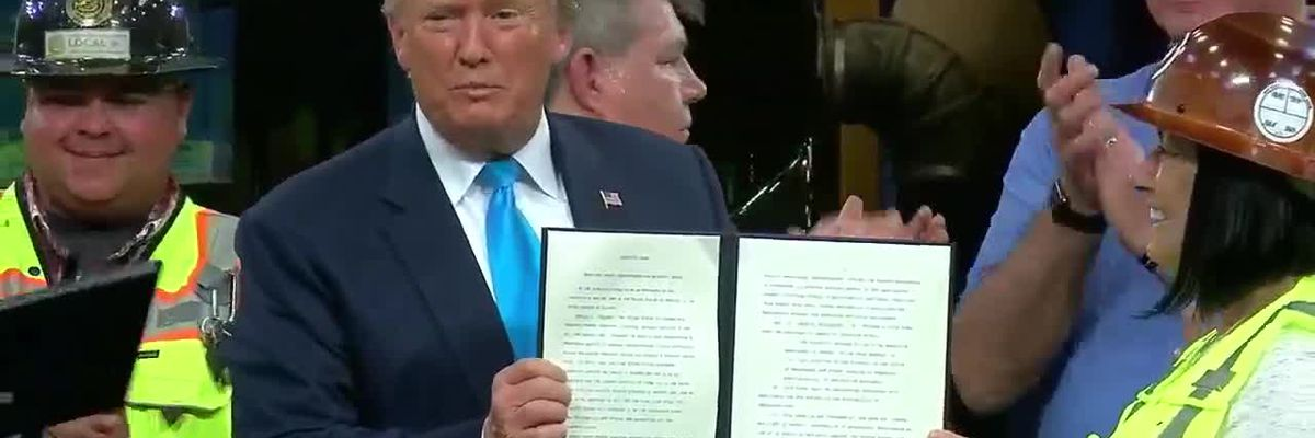 RAW VIDEO: President Trump signs executive actions