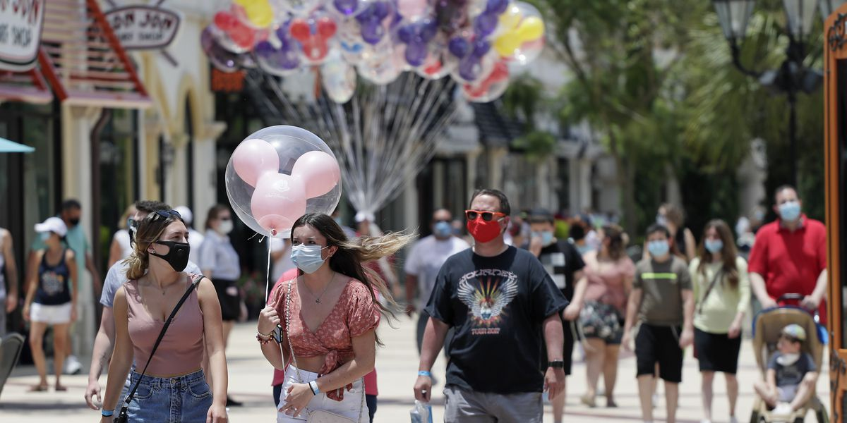 Disney World to reopen as coronavirus cases surge in Florida