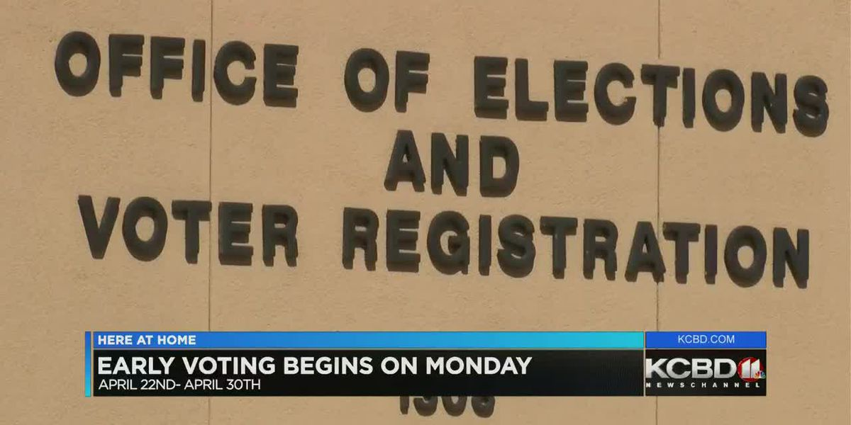 Early voting begins Monday