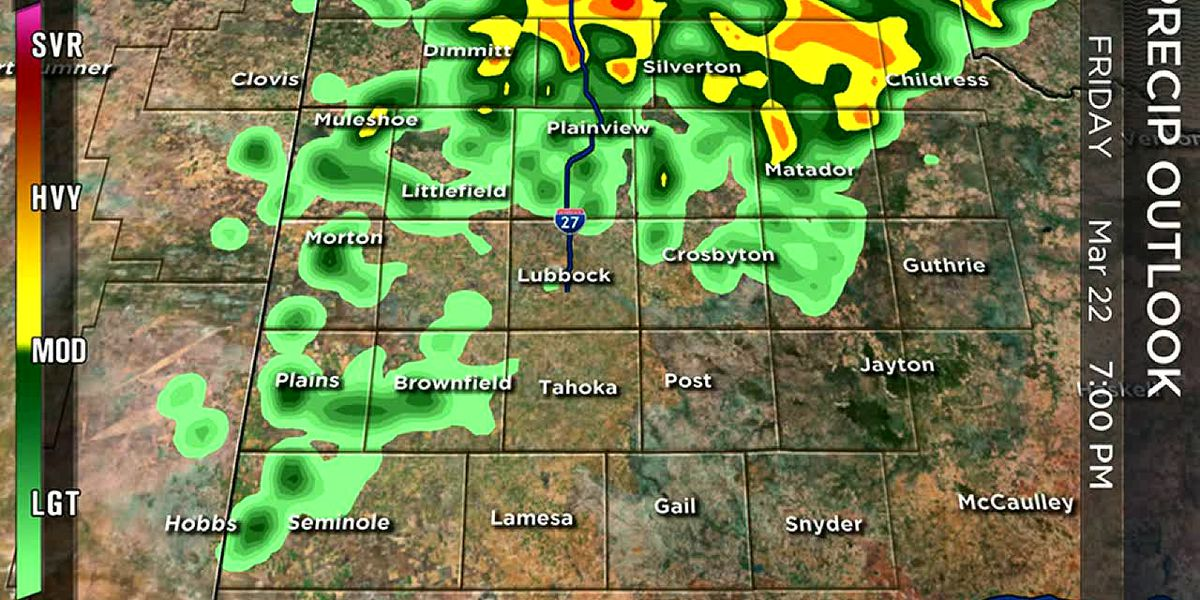 Storms headed for the South Plains