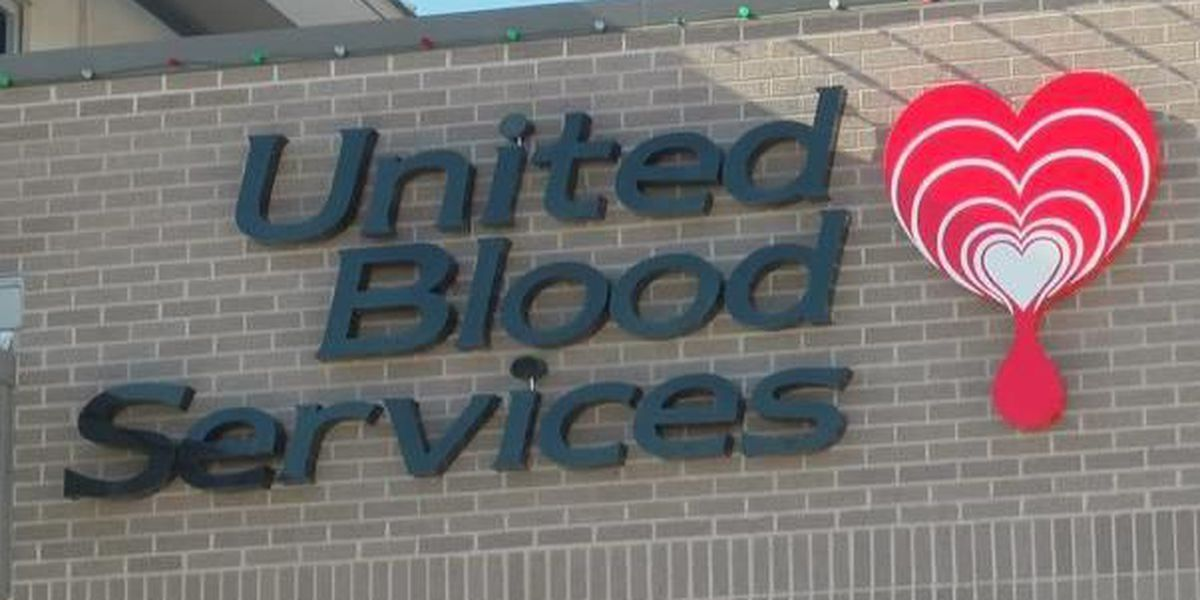 United Blood Services asking for donations during the holiday season