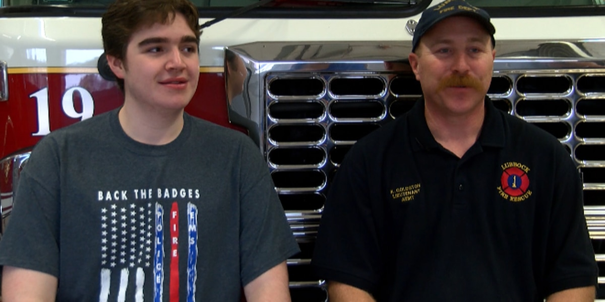 Lubbock firefighter explains how blood donations saved his son's life