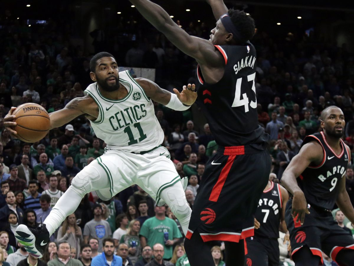 Kyrie Irving scores 43, Celtics beat Raptors 123-116 in OT