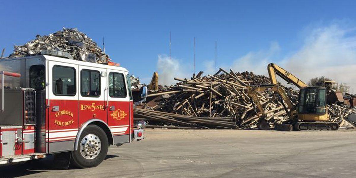 Fire crews extinguish trash fire at Jarvis Metals