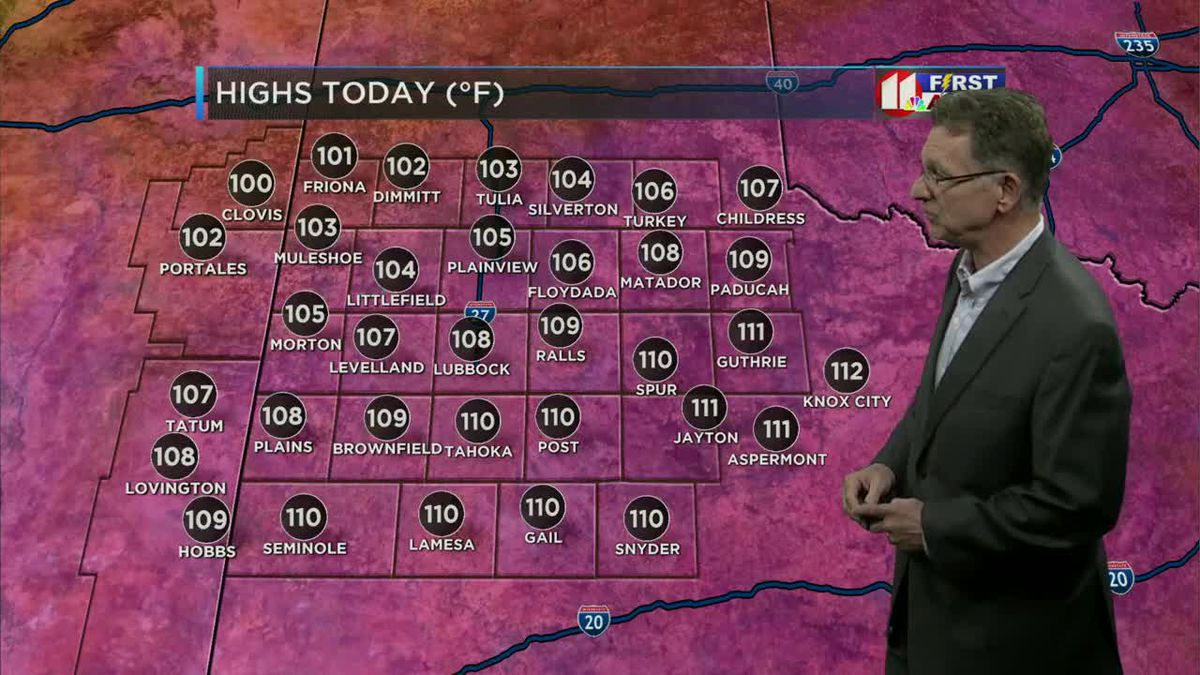 FIRST ALERT WEATHER DAY: Triple-digit temperatures across the South Plains