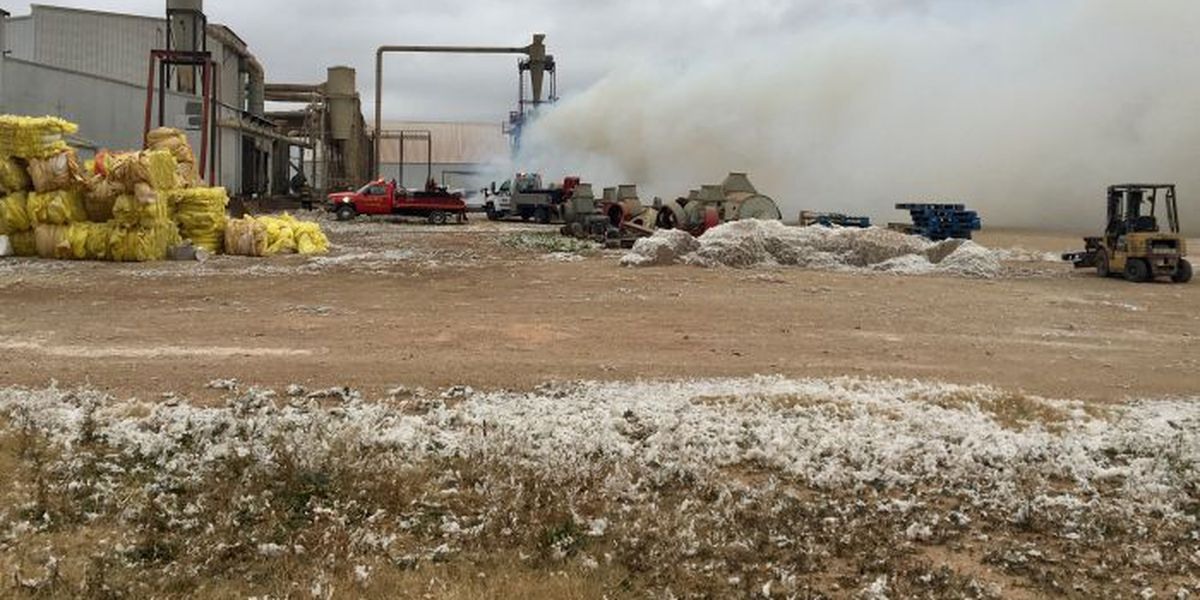 Multiple departments called to fire at Liberty Coop Gin on Monday afternoon