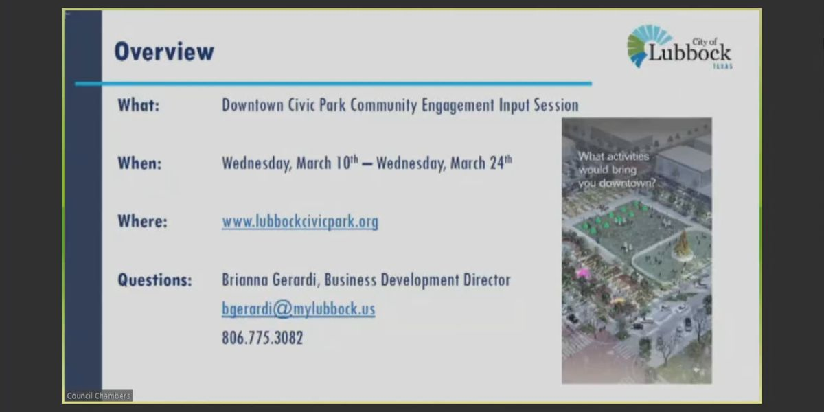 City of Lubbock to survey public online about wants at 'downtown civic park'