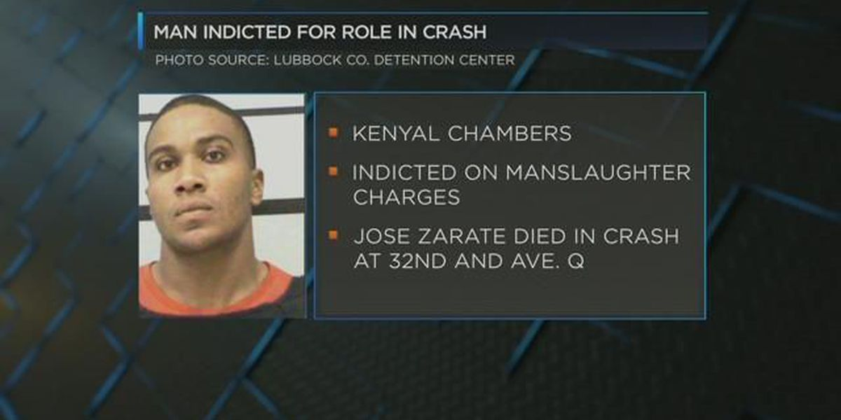 Lubbock man facing manslaughter charges for role in 3-car crash