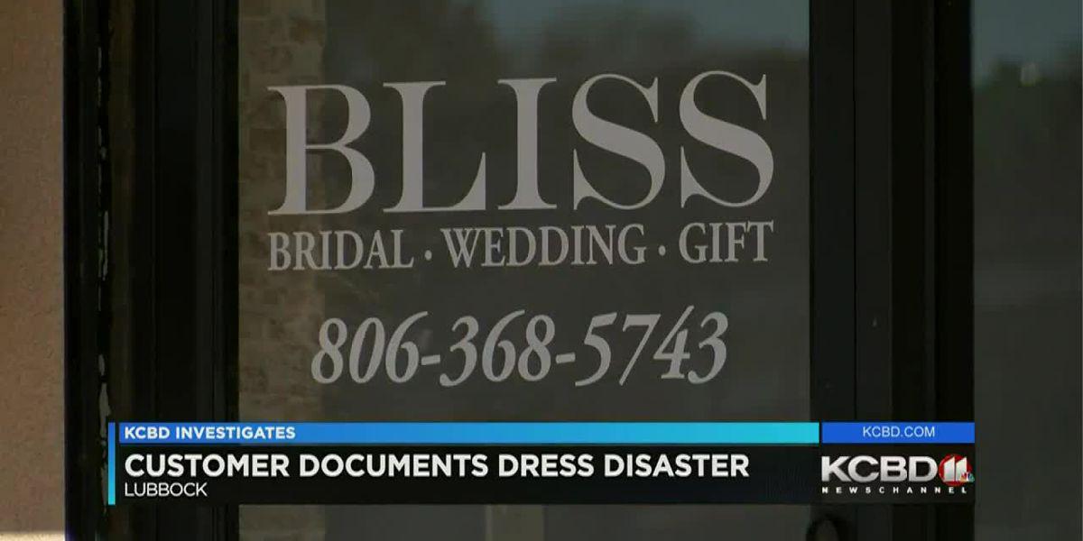 KCBD Investigates: Bliss Bridal customer documents wedding dress disaster
