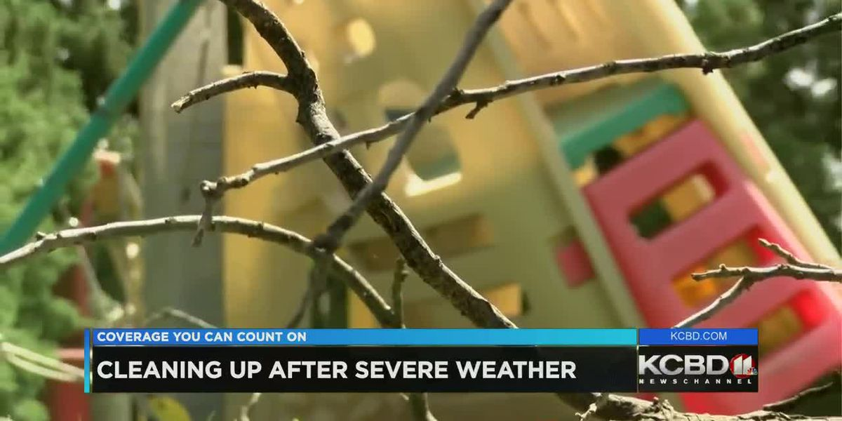 Lubbock residents clean up after severe weather