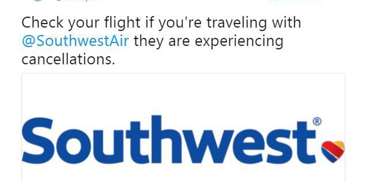 Southwest Airlines experiencing cancellations at Lubbock airport