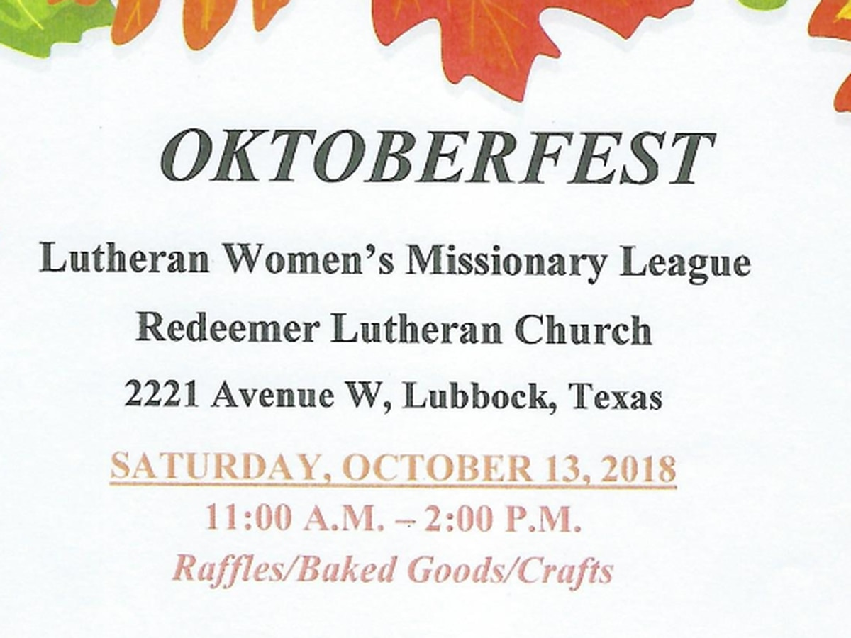 Lutheran Women's Missionary League to host Oktoberfest