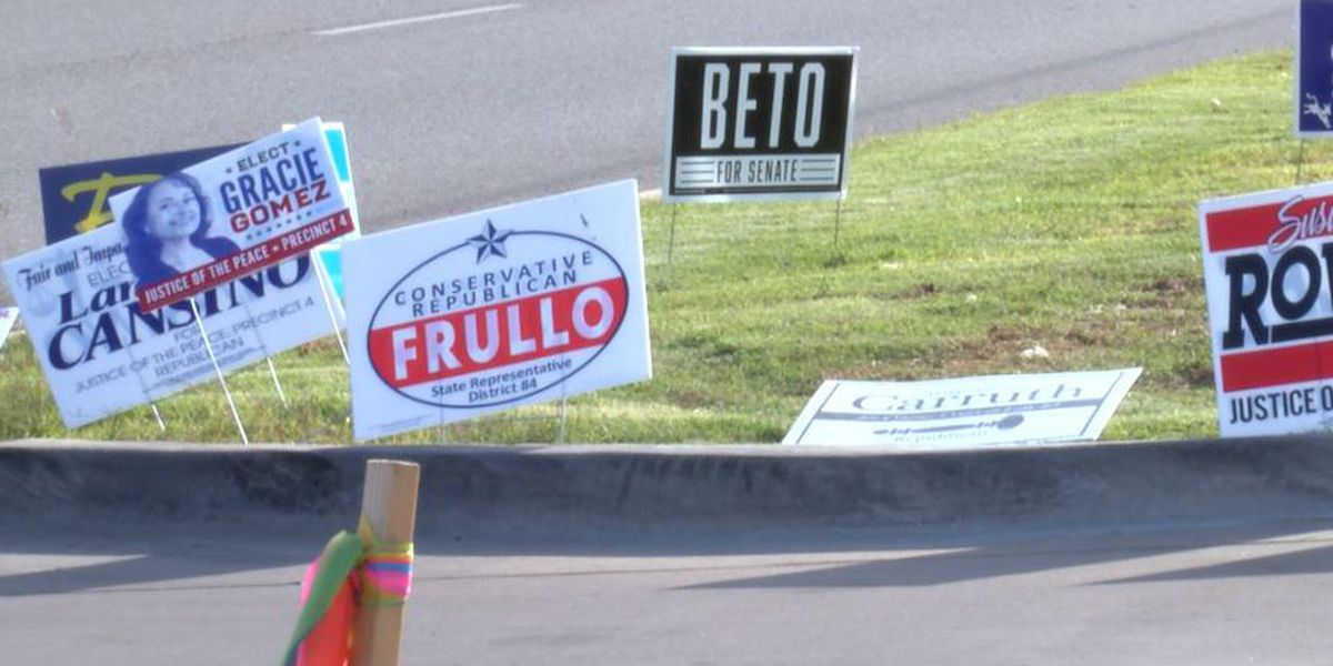 Lubbock reminds voters about political sign rules