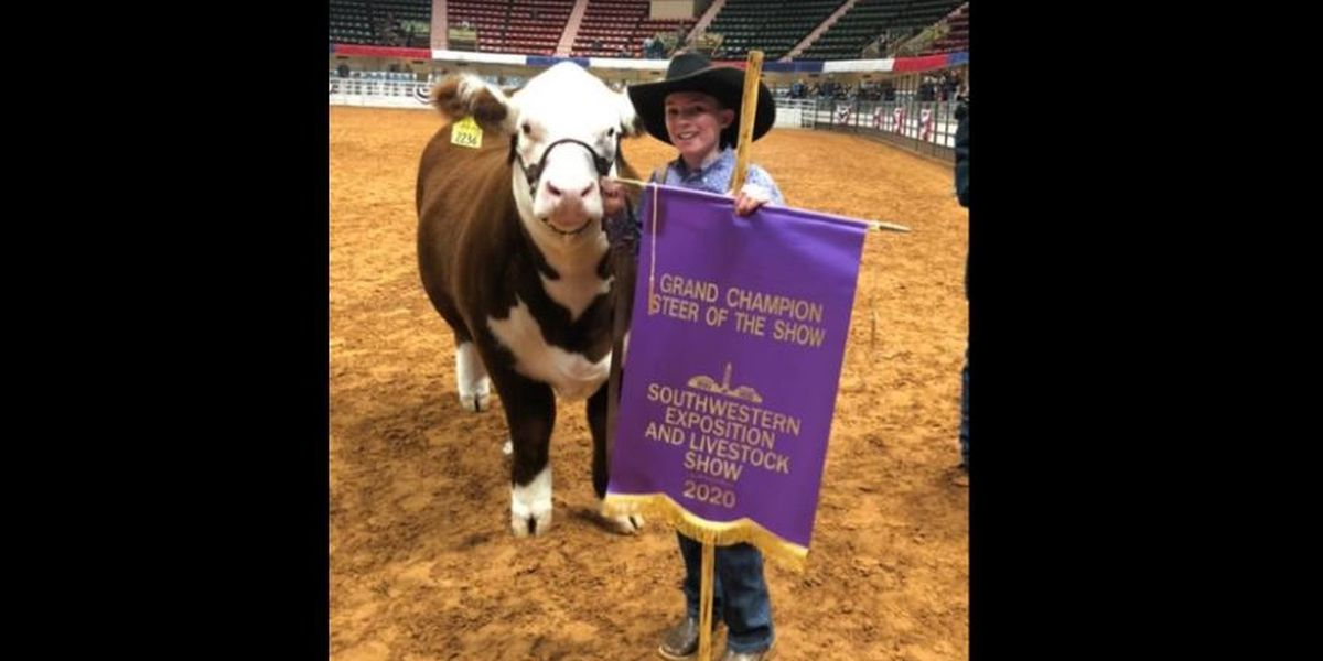 Meadow FFA member sells Grand Champion steer for record price at Fort Worth Stock Show & Rodeo