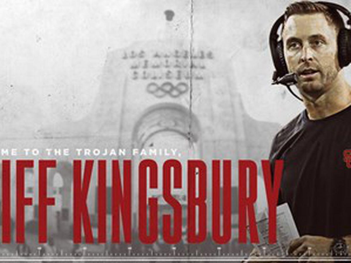 Kliff Kingsbury is on the job at USC