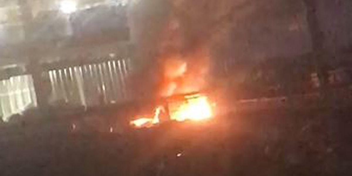 Electric pole explodes near Anadarko construction site in Midland
