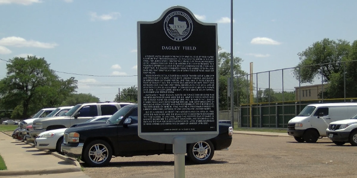 Historical marker at Dagley Field to note Lubbock's contribution to WWII