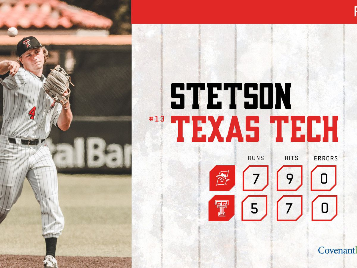 No. 13 Red Raiders fall to Stetson in extra innings