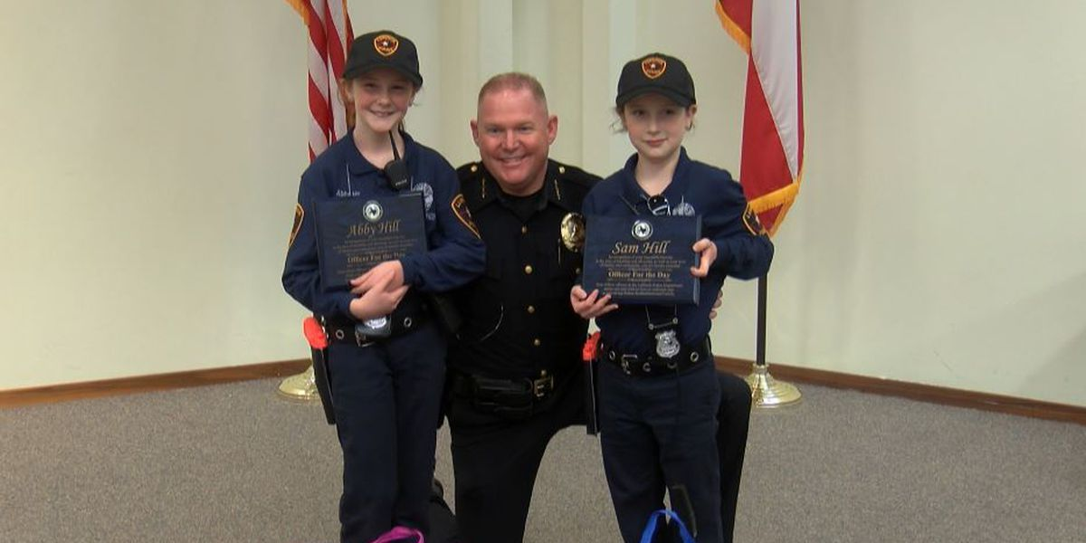 Siblings battling congenital diseases fight crime as LPD officers for the day