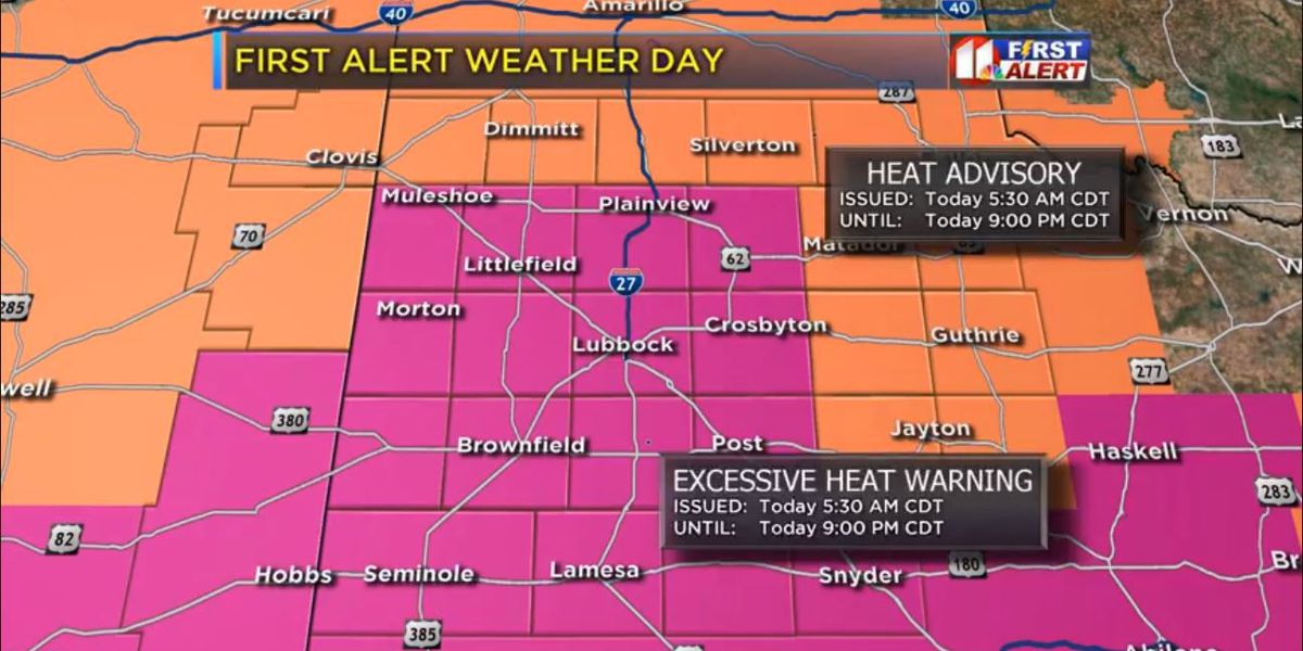 First Alert Weather Day: Dangerous heat wave continues through mid-week